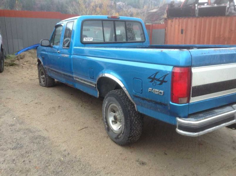 1995 ford truck ford f150 pickup rear body bumper assembly rear step