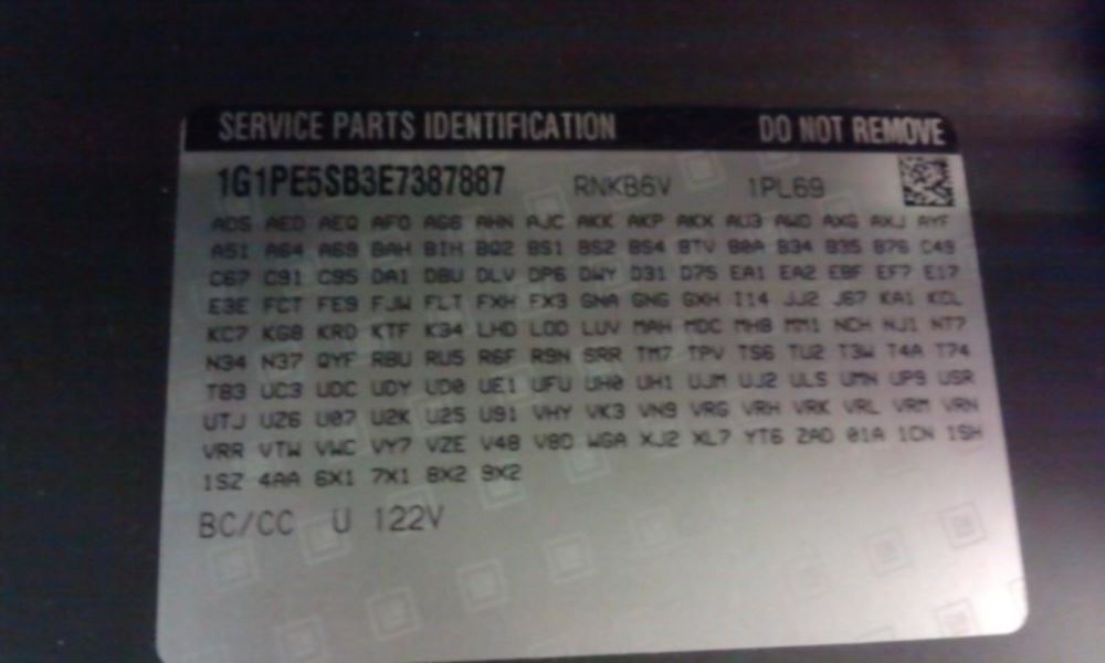2014 Chevrolet Trax Electrical Chassis Control Module Body