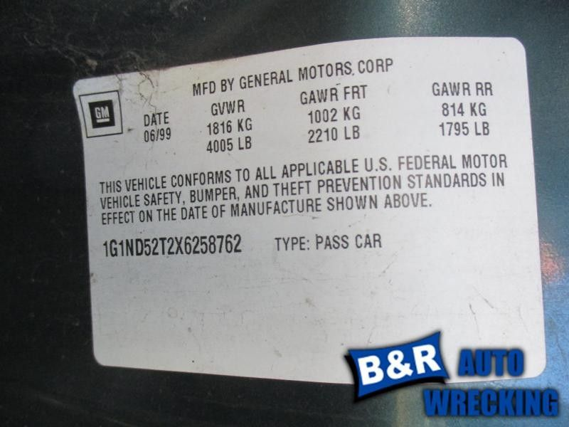 Used 1999 chevrolet malibu engine accessories power 00970 country code