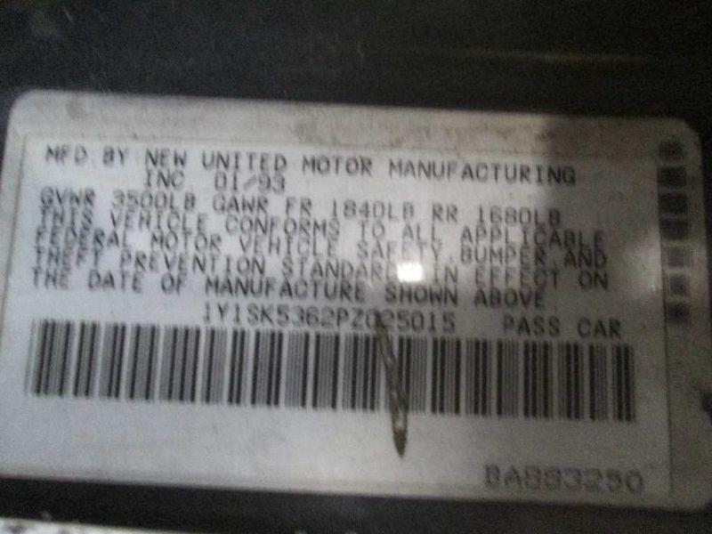 1993 general motors   foreign geo-prizm doors geo prizm door assembly  front    120 LH,GRN, ,5D3,5D
