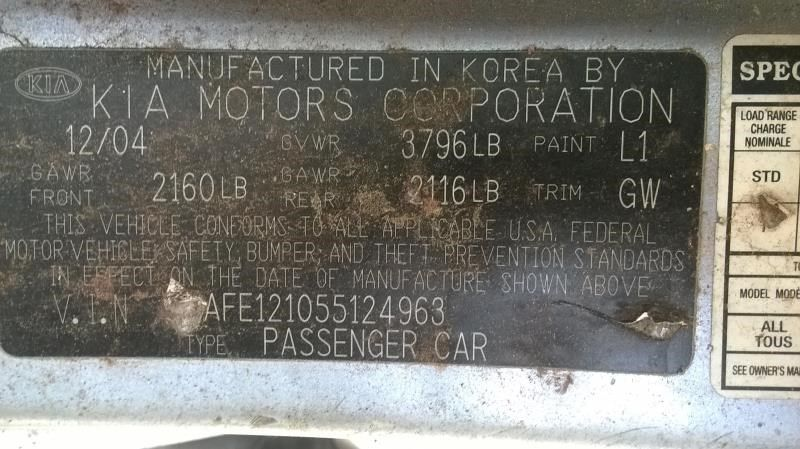 2006 kia spectra5 lights headlamp assembly right sdn  4 dr   ex  r  114 4 DR,BLUE,EX