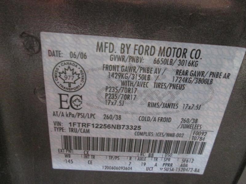 2004 ford truck f150 interior f150 seat  front |  202 RITE REGCAB 40SD GREY CE,CL MAN 000