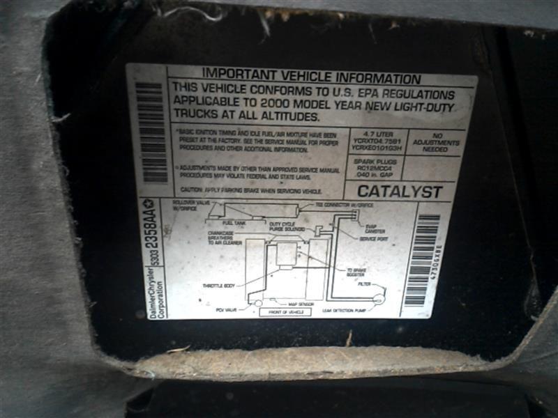 2000 dodge truck durango transmission transfer case assembly nv231 |  412 4.7,AUT,SLT,NV231