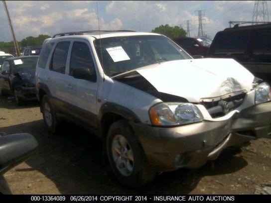 2001 mazda mazda-tribute rear-body mazda tribute bumper assembly  rear 190 WHT,4DR,2-03,8-14