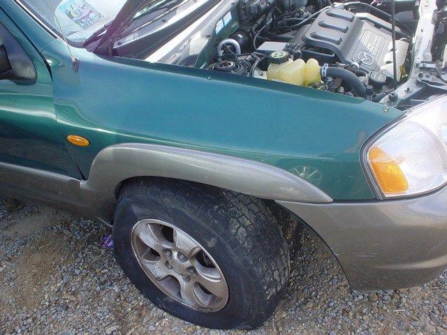 2001 mazda mazda-tribute rear-body mazda tribute bumper assembly  rear 190 Green Minor Scratches W Reciever