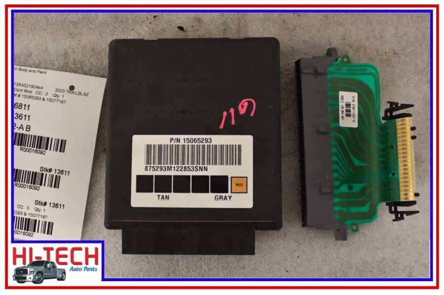 02 03 04 05 chevy trailblazer body control module bcm 15065293   15077187
