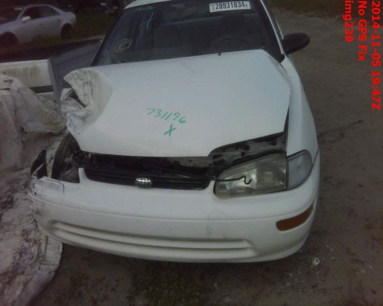 1993 general motors   foreign geo-prizm doors geo prizm door assembly  front 120 LH,4DR,WHT,MAN,-RSAIL,5F1