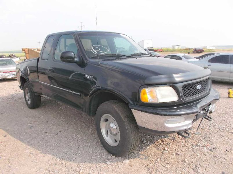 1997 ford truck ford f150 pickup front body radiator core support 109 BLU,06/97