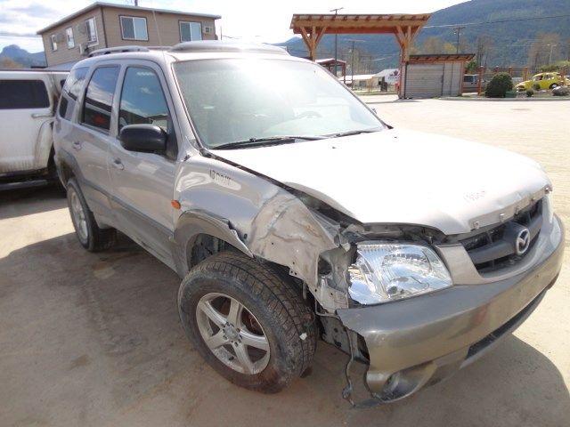 2001 mazda mazda-tribute rear-body mazda tribute bumper assembly  rear 190 4WGN,ES,000,LESS COVER, BRN