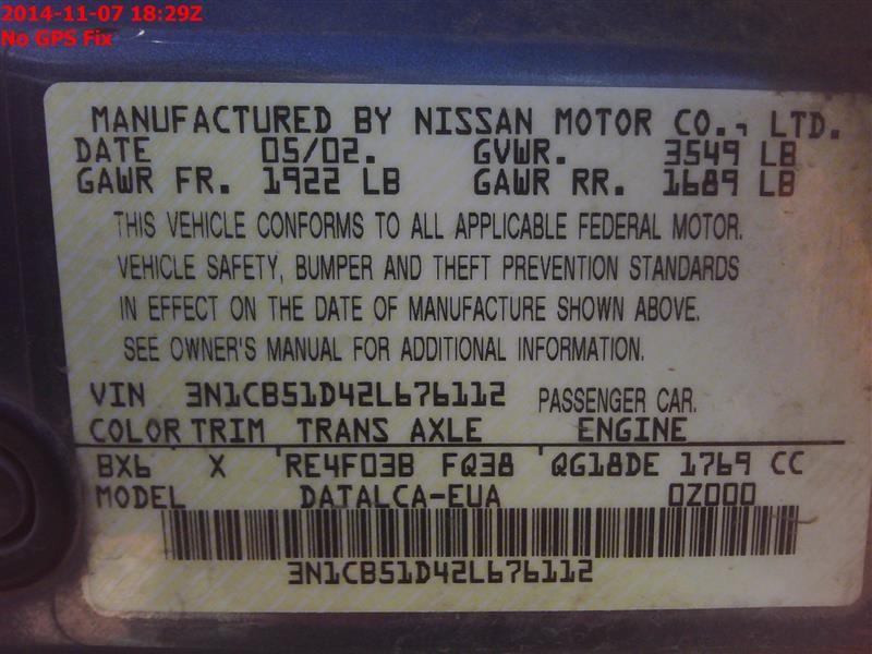2000 nissan sentra engine-accessories sentra fuel pump 323 1.8L