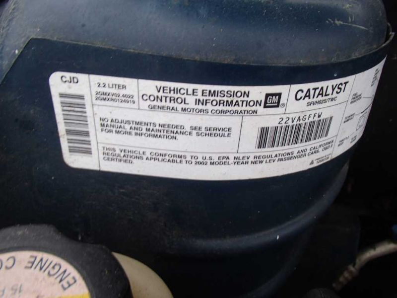 Used 2002 pontiac sunfire engine accessories power 00970 country code