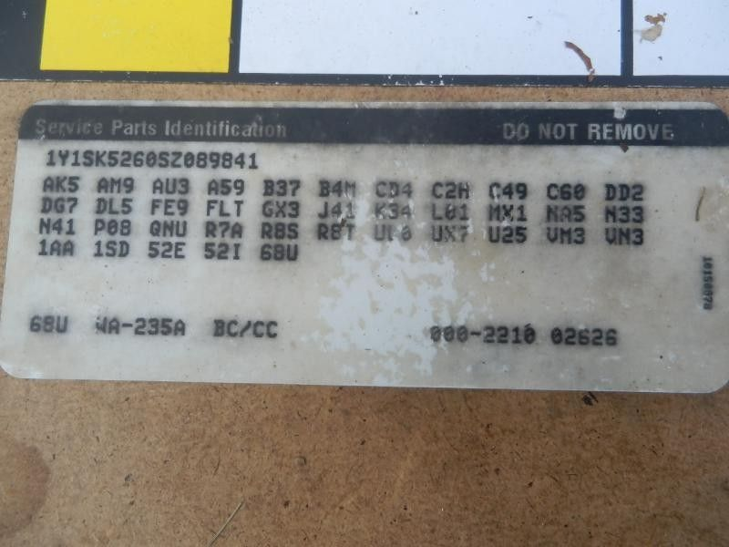 1993 general motors   foreign geo-prizm doors geo prizm door assembly  front |  120 4DR,TAN-235A,MW,PL,5P2,4P1,CK COMP