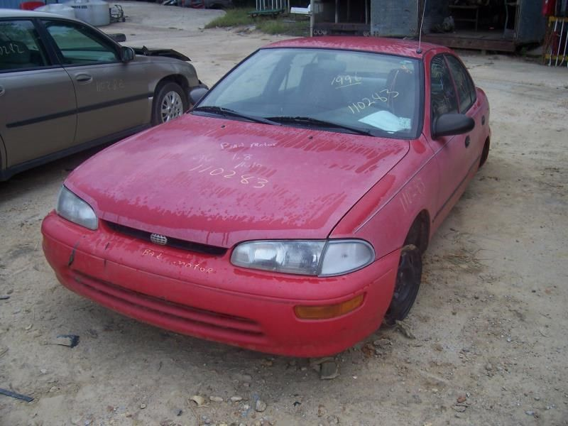 1993 general motors   foreign geo-prizm doors geo prizm door assembly  front 120 RED,4 DR,PRIZM,FWD,RM,TINT,BLACK,MW,
