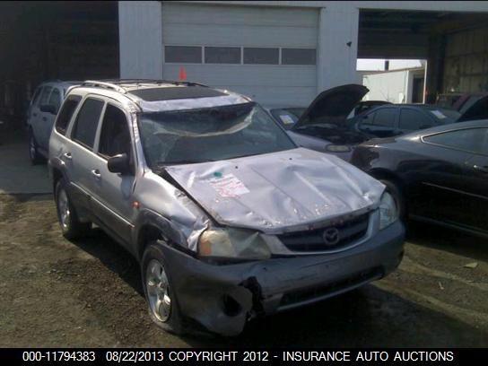 2001 mazda mazda-tribute rear-body mazda tribute bumper assembly  rear    190 SILVER,SUV,ES,3J2,PARTS,NIQ