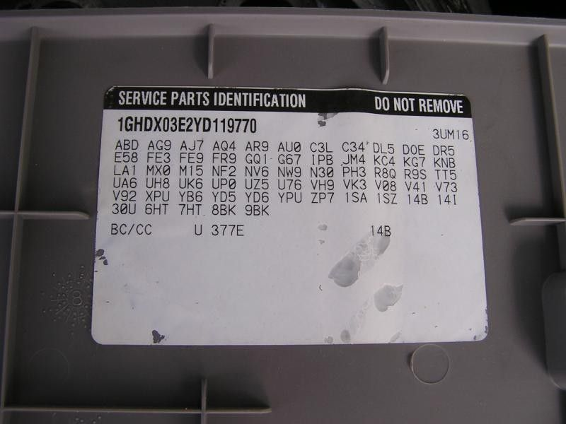 2000 chevrolet venture transmission transmission transaxle a t    4t65e   id bcb |  400 3.4,AT,OBCB