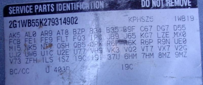 2006 chevrolet impala rear-body impala quarter panel assembly |  160 6E1,1H1,3H1,4P1,BLU