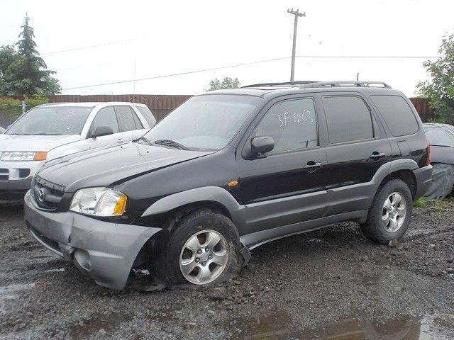 2001 mazda mazda-tribute rear-body mazda tribute bumper assembly  rear |  190 BLK,3.0L,AT
