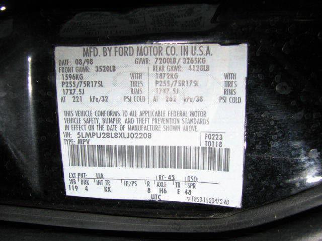 2002 lincoln navigator electrical chassis control module temperature   behind ctr dash   id f5lf 19e624 ac 591 TEMP ECM,VERIFY OK
