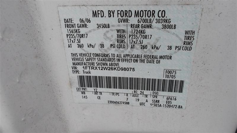 2004 ford truck f150 front-body f150 headlamp assembly 114 09-12,LH,TAB REPAIRED,W-STROBE