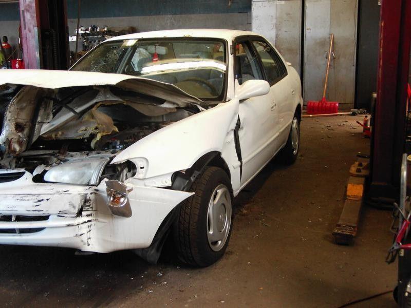 1998 Toyota Corolla Rear Body Bumper Assembly Rear Bumper