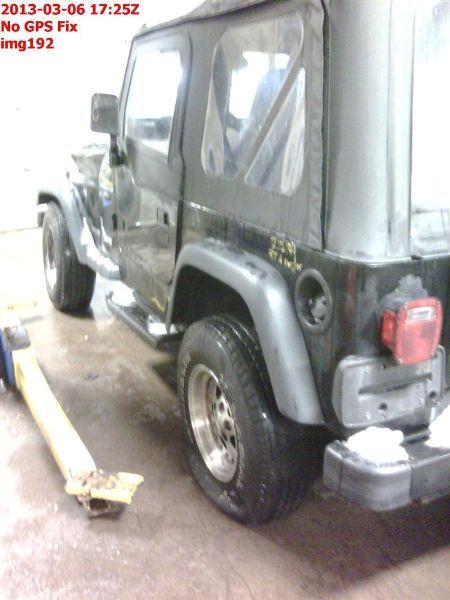 1997 jeep wrangler interior dash panel lhd 251 PARTS BAG BLOWN