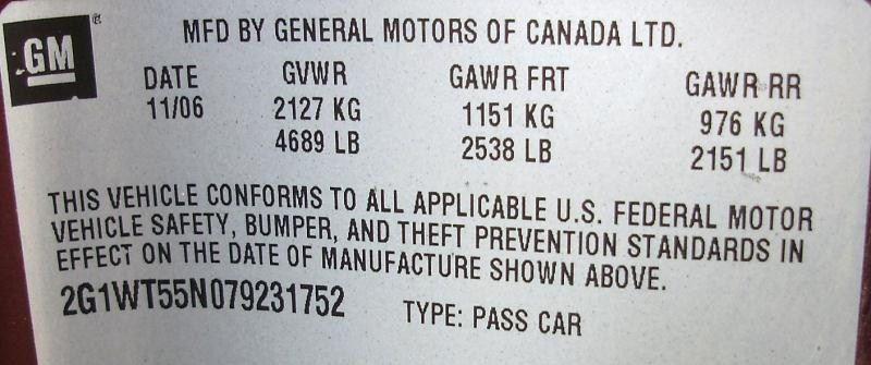 2006 chevrolet impala rear-body impala quarter panel assembly |  160 2P1,5P1,MRN,11/06R/RR,