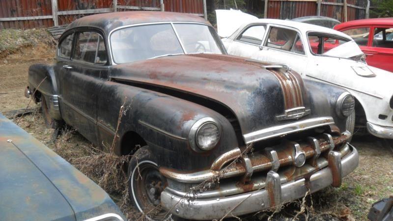 1950 pontiac silver streak 2 door sedan surface rust hood for 1950 pontiac 2 door